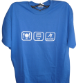 Blue Eat Sleep Roller Hockey Shirt