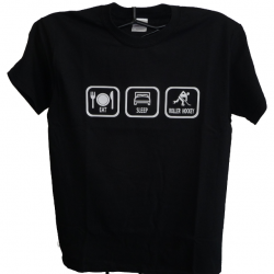 Black Eat Sleep Roller Hockey Shirt
