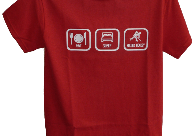 Red Eat Sleep Roller Hockey Shirt
