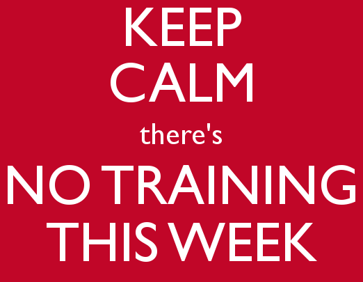 No Training Friday 21st Feb 2020