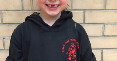 Nancy was the club's top Sponsored Skate fundraiser with £50